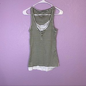 Energie size large striped tank top